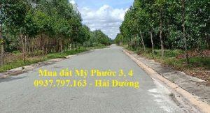 Cần mua lô 5C18 đất Mỹ Phước 4 đường DA2 mặt tiền đường thông